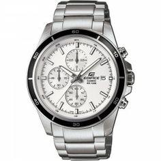 Flash Bargain! Casio Edifice Men's Quartz Watch White Dial Analogue Display Silver Stainless Steel Bracelet £47.17
