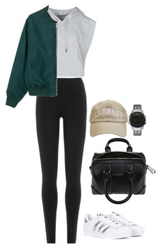 """""""Untitled #477"""" by maritzawaffles on Polyvore featuring GUESS, adidas, DKNY and Givenchy"""