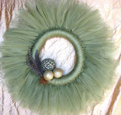 Hand-Crafted Pheasant Feather Wreath. $35.00, via Etsy.