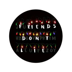 Stranger Things Friends Don't Lie Button Badge | AlienAndEarthling