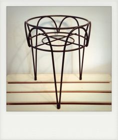 Vintage Black Wire Plant Stand with Hairpin Legs by WestAshVintage, $22.00