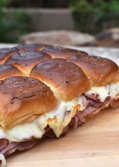 Here's some great Game Day Food that's easy enough to prep even when you're out enjoying some amazing Fall Camping. Hawaiian Ham and Cheese Sliders!