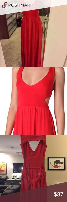 """Rachel pally maxi dress Beautiful red, cut out dress. Super flattering. Only worn once for a special occasion. Was professionally hemmed - I am 5""""3 and can wear 3.5"""" heels with it. Perfectly touches the floor. Rachel Pally Dresses Maxi"""