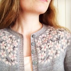 "knicromaniac: "" lazy-vegetarian: "" Kirsebærblomstring / Cherry Bloom by Lene Tøsti on Ravelry "" OH MY GOODNESS.  """