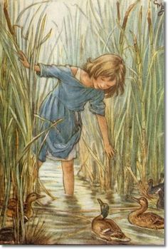 Cicely Mary Barker - The Lord of the Rushie River - Where the Wild Duck Had Their Homes Painting