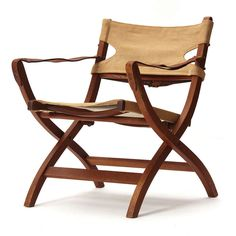 Campaign Chair By Poul Hundevad image 2 Outdoor Chairs, Outdoor Furniture, Outdoor Decor, Campaign Furniture, Wood Canvas, Modern Armchair, Furniture Inspiration, Wood Projects, Teak