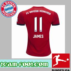 c1f0c41ea Team-Foot Maillot de Bayern Munich (11 JAMES) Domicile 18 19