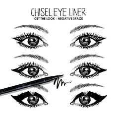 Negative Space Eyeliner looks by #Ciate on the #Sephora Beauty Board