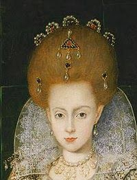Detail from a portrait of Elizabeth Stuart, Princess of England, Scotlan and Ireland by an unknown artist, ca. 1606