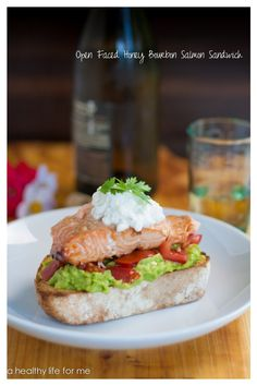 Open Faced Honey Bourbon Salmon Sandwich Recipe with Amy Stafford at ...