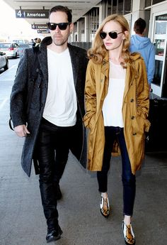 Flawlessly cool. @Who What Wear - A Study in Kate Bosworth's Flawless Airport Style