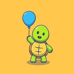 Swimming Cartoon, Underwater Cartoon, Cute Tortoise, Happy Turtle, Funny Cartoon Characters, Engraving Illustration, Cute Turtles, Watercolor Animals, Animal Design