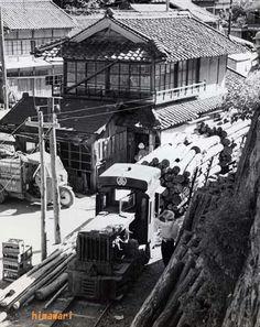 魚梁瀬森林鉄道終着駅