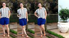 LEILA DINIZ *blog: #LOOK bermuda azulão marisa + blusinha estampa geo...