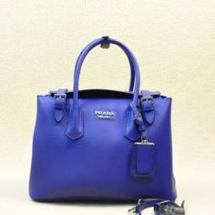2014 Latest Prada Calf Leather Tote Bag BR5071M in Blue