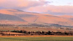 Cross fell. This Pennine mountain dominates the Eden valley covering the majority of the view to the east.