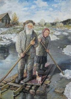 The artist Leonid Baranov now lives in Yekaterinburg Elderly Couples, Old Couples, Painter Artist, Artist Painting, Growing Old Together, Old Folks, Grandma And Grandpa, Wassily Kandinsky, Russian Art