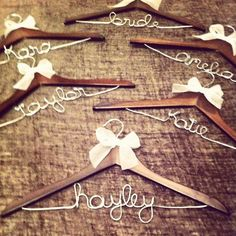 Bridal Party Hangers  Set of 6 discounted by kdamstra on Etsy, $72.00