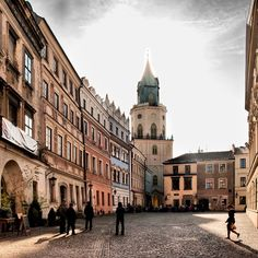 The Cracow Gate in Lublin, Poland