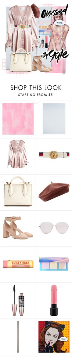 """""""Untitled #156"""" by unicornsyaa ❤ liked on Polyvore featuring Designers Guild, Trademark Fine Art, Privacy Please, Gucci, Strathberry, Accessorize, RED Valentino, Forever 21, Burt's Bees and Lime Crime"""
