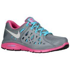Nike Dual Fusion Run 2 - Women's - Running - Shoes - Cool Grey/Gamma Blue/Club Pink/Metallic Platinum