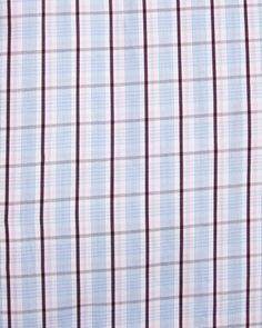Check Poplin Dress Shirt, Red /Blue