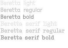Beretta_Font