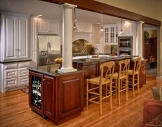 Kitchen Island With Raised Center Dividers