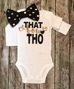 That BOW Tho Baby Girl Onesie Bows Onesies - BellaPiccoli