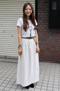 こういうシンプルな感じのファッションは嫌いではない。QT Japanese street style.