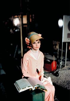 Audrey Hepburn photographed by Bob Willoughby on the set of My Fair Lady, 1964.