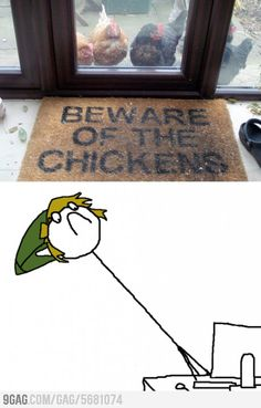 I need this door mat. The hens have taken to pecking on the back door if I am not out to feed them early enough.