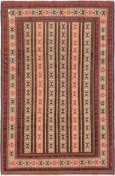 $721 (6 x 9) Hand woven Ghafkazi Copper, Ivory Wool Sumak