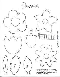felt flowers pattern