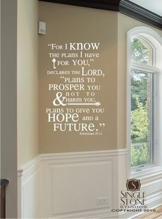Bible Verse Wall Decals Jeremiah 29:11 - Vinyl Wall Stickers Art Scripture Bible