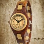 An eco-friendly twist on a classic accessory! Wooden Watch, Eco Friendly, Watches, Classic, Accessories, Wooden Clock, Derby, Wristwatches, Clock