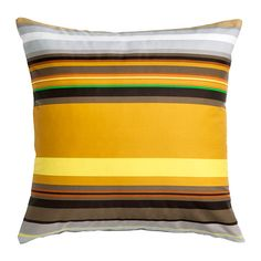 STOCKHOLM Cushion cover IKEA Cotton sateen has a soft, smooth finish with a subtle sheen. Choose between a feather- or polyester-filled inner cushion.