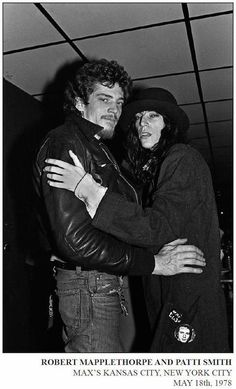 Robert Mapplethorpe and Patti Smith, Max's Kansas City, New York City, May Allan Tannenbaum, New York Punk: (Portfolio of 21 Photographs) Live for bidding on artnet Auctions Patti Smith Robert Mapplethorpe, Just Kids, Cult, City Scene, Just Kidding, Best Couple, Rare Photos, Powerpuff Girls, Musical