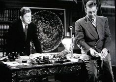 Claude Rains and Lon Chaney Jr in The Wolfman