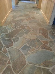stone flooring ideas | ... Stone Hallway And Natural Stone Flooring Ideas With Empty Space Also