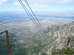 Sandia Mountain Albequerque New Mexico. Rode this tram to the top of the mountain. very cool but scary too!