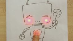 Chibitronic stickets lets you add circuitry to art projects creating an interactive greeti...