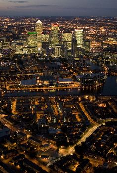London Night , from the sky. (19 Pics)   Most Beautiful Pages