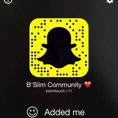 You can now add us on snapchat for healthy and fashion advices by wearing your B'Slim Touch :) #snapchat #health #fashion
