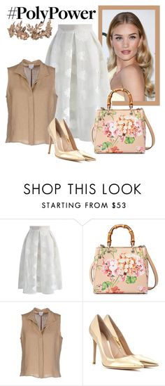 """""""Untitled #3265"""" by julinka111 ❤ liked on Polyvore featuring Whiteley, Chicwish, Gucci, Armani Collezioni and Gianvito Rossi"""