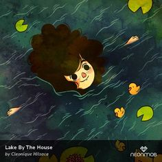 """Woot! I got an extremely rare print, """"Lake By The House"""", by Cleonique Hilsaca on @NeonMob - Check it out!"""