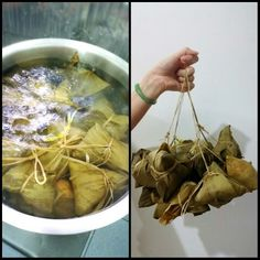 Zongzi to be cooked by boiling for at least 3 hours before ready to eat.
