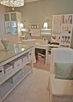 Craft Room Furniture | Beautiful craft room interior design ideas that make work easier