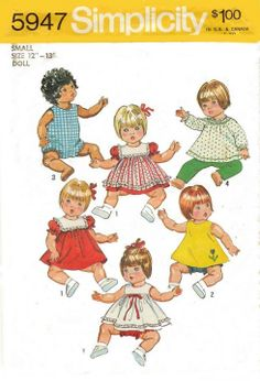 Free Copy of Pattern - Simplicity 5947 - 12-13 inch baby dolls