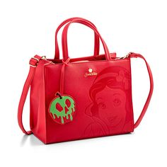 Next time you venture into the forest, dont go empty handed. Fill the ThinkGeek-exclusive Disney Snow White Embossed Leather Satchel Bag with provisions, attach your own poison apple, and beware of the Witch! Disney Handbags, Disney Purse, Handbags Online, Purses And Handbags, Cheap Handbags, Prada Handbags, Geek Bag, Cute Purses, Cheap Purses